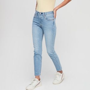 Levi's • 501 Skinny Button Fly Jeans